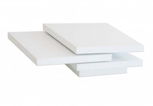 PARKVILLE COFFEE TABLE (WD-332)  - 350(H) X 800(1200)(W) X  800(D)- HIGH GLOSSY  WHITE