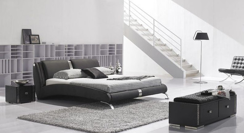 QUEEN JESSE LEATHERETTE BED (B001) - ASSORTED COLORS AVAILABLE
