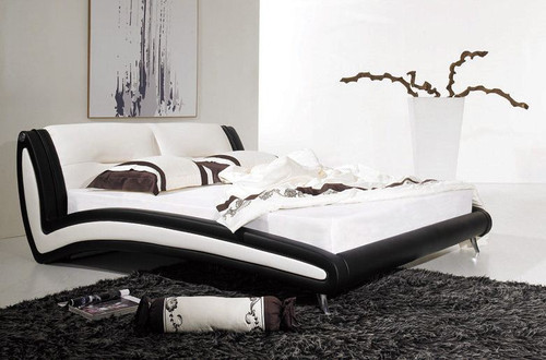 QUEEN BRYMO  LEATHERETTE  BED (B002) - ASSORTED COLORS AVAILABLE