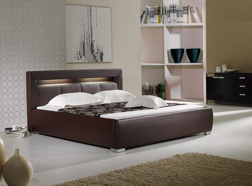 QUEEN  MORRISON  LEATHERETTE  BED (B003) - ASSORTED COLORS AVAILABLE