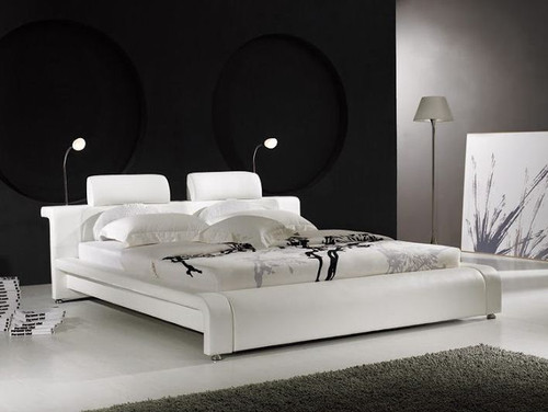 QUEEN  PASMAN  LEATHERETTE  BED (B004) - ASSORTED COLORS AVAILABLE