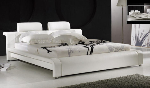 QUEEN  PASMAN  LEATHERETTE  BED WITH LED LIGHT (B004B) - ASSORTED COLORS AVAILABLE