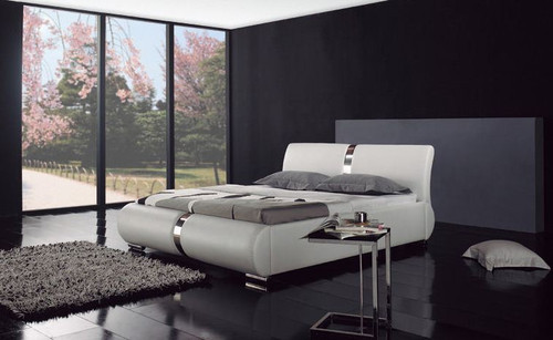 QUEEN ADAM LEATHERETTE  BED  (B005) - ASSORTED COLORS AVAILABLE