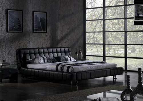 QUEEN  VEGAS  LEATHERETTE  BED (B006) - ASSORTED COLORS AVAILABLE