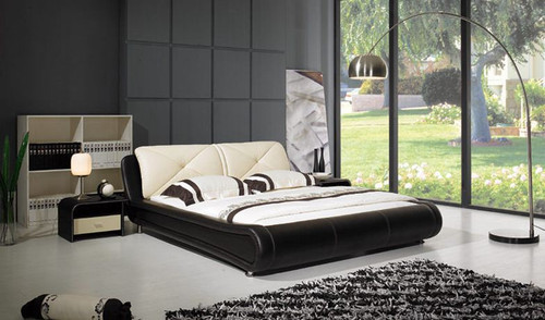 KING  FERGUSON  LEATHERETTE  BED (B007) - ASSORTED COLORS AVAILABLE