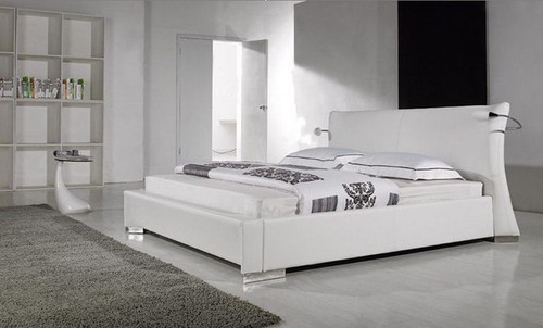KING  LANI  LEATHERETTE  BED  WITH LIGHTS (B009) - ASSORTED COLORS AVAILABLE