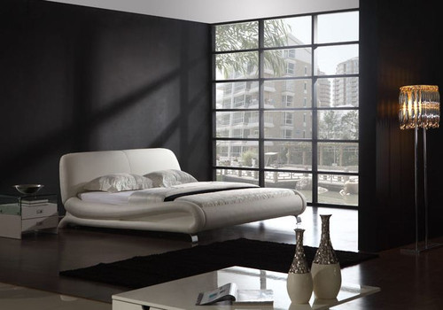 KING ROCKWELL LEATHERETTE  BED (B010) - ASSORTED COLORS AVAILABLE
