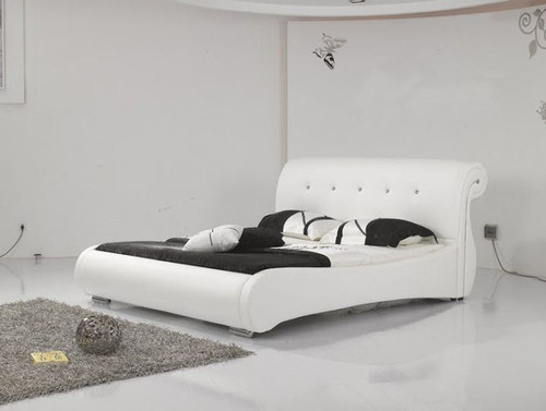 KING  JARRET  LEATHERETTE  BED (B012) - ASSORTED COLORS AVAILABLE