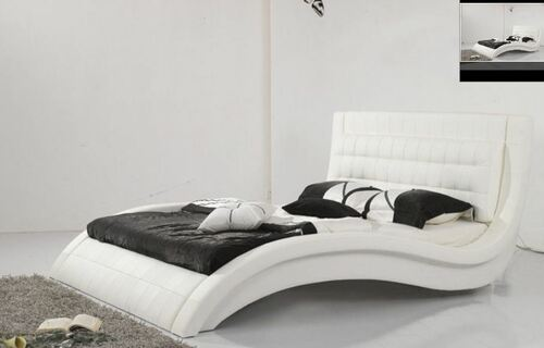 KING  OMAR LEATHERETTE  BED (B015) - ASSORTED COLORS AVAILABLE