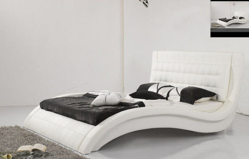 QUEEN  OMAR LEATHERETTE  BED (B015) - ASSORTED COLORS AVAILABLE