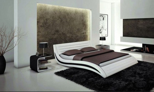 QUEEN BOWEN  LEATHERETTE  BED (B021) - ASSORTED COLORS AVAILABLE