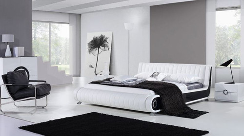 QUEEN KOBEN  LEATHERETTE  BED (B025) - ASSORTED COLORS AVAILABLE