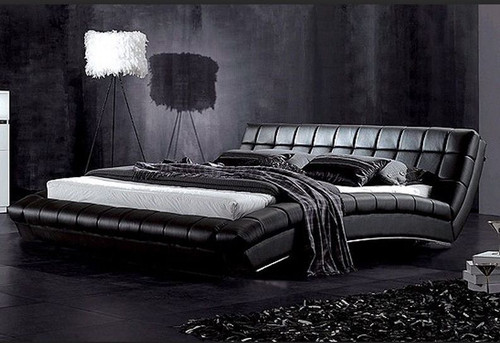 KING  NORWISH LEATHERETTE  BED (B035) - ASSORTED COLORS AVAILABLE (SEE COLOR BOARD)