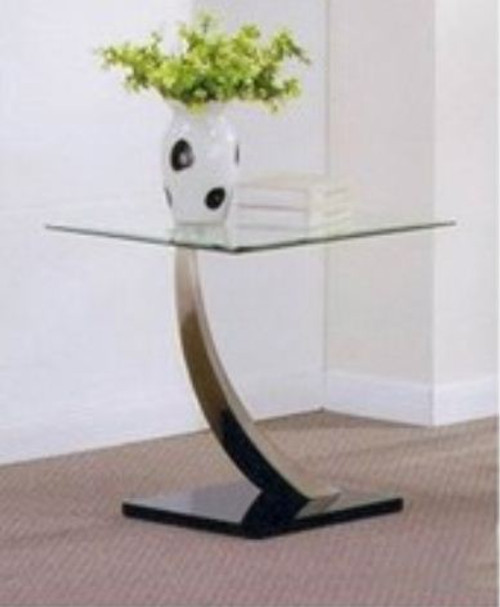 DECOR (WD-486) LAMP TABLE - CLEAR GLASS