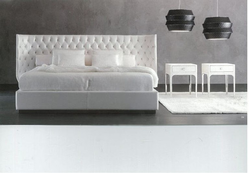 QUEEN  MERRYTON LEATHERETTE  BED (B036) - ASSORTED COLORS AVAILABLE (SEE COLOR BOARD)