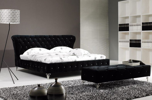 QUEEN GRAYSON FABRIC - SUEDE  BED (B043) - ASSORTED COLORS AVAILABLE (SEE COLOR BOARD)