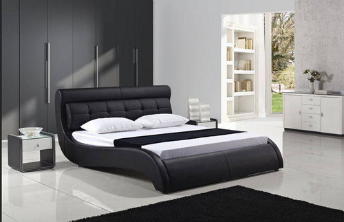 QUEEN EASTON LEATHERETTE  BED (B082) - ASSORTED COLORS AVAILABLE (SEE COLOR BOARD)