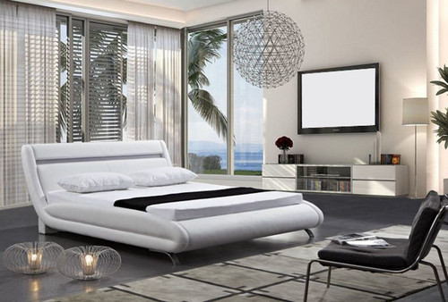 KING  FARICA LEATHERETTE  BED (B085) - ASSORTED COLORS AVAILABLE (SEE COLOR BOARD)