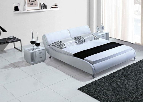 QUEEN  KADE  LEATHERETTE  BED (B087) - ASSORTED COLORS AVAILABLE (SEE COLOR BOARD)