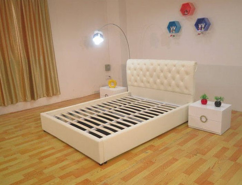 QUEEN LADONNA LEATHERETTE BED WITH LOW FOOT END (B090LF) - ASSORTED COLORS