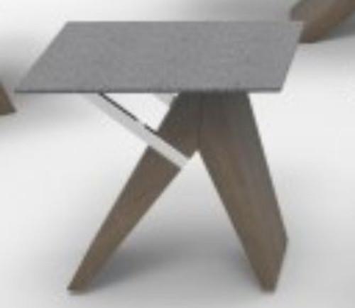 VENUS   (WD-456)  LAMP TABLE -  STONE / OAK