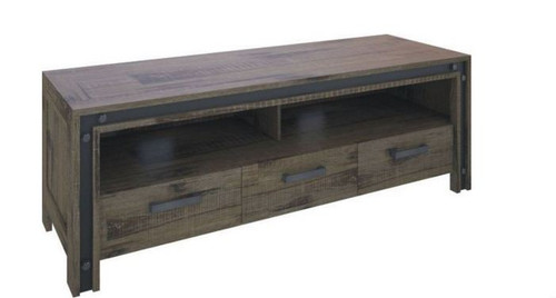TOPHOUSE  3 DRAWERS ENTERTAINMENT UNIT  (23-1-18-5-8-15-21--20-5)   - 1640(W) - KHAKI