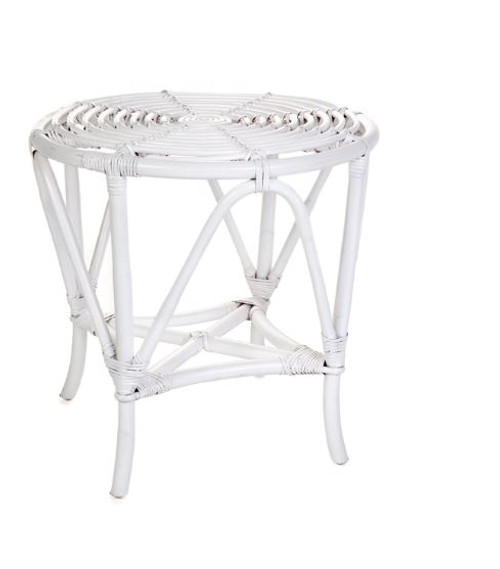 NZ  ROUND  SIDE TABLE (DET776/T)  -  WHITE
