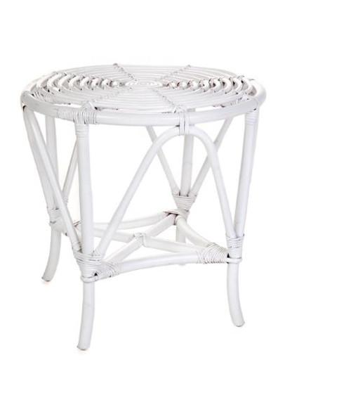 NZ  ROUND  SIDE TABLE (DET776/T)  -  WHITE