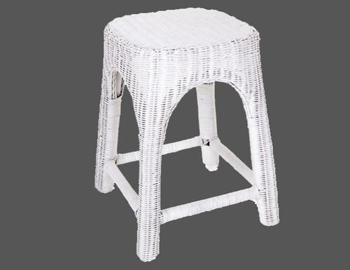 RATTAN (DET809) KITCHEN   STOOL - SEAT: 500(H) -  WHITE