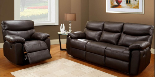 TORONTO 3RR + R + R (4 ACTIONS) - 100% LEATHER RECLINER LOUNGE SUITE - BLACK , CAPPUCCINO , CHOCOLATE