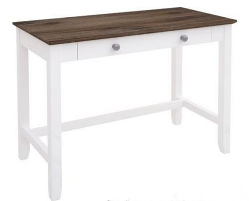 HABIBA 1100(W) X 550(D) - STUDY DESK WITH DRAWER  (2-18-9-20-20-1-14-25)  - WHITE / DARK WENGE