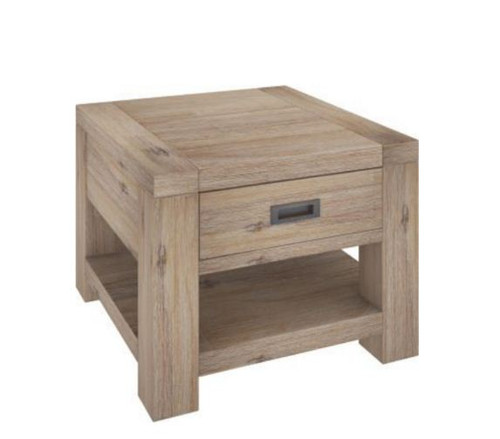 OYSTER BAY  LAMP TABLE WITH  DRAWER (VOB-007)  - ASH