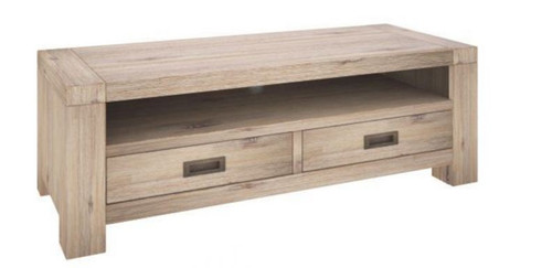 OYSTER BAY TV UNIT WITH  2 DRAWERS (VOB-009) - 1210(W) - ASH