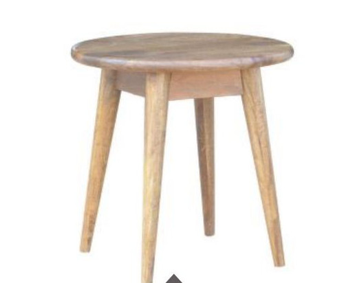 RETRO  500(DIA) ROUND SIDE TABLE  (WORE-007) - LIGHT OAK