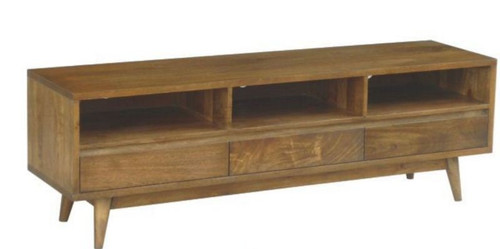 RETRO     3 DRAWERS TV UNIT  (WORE-009) - 1700(W)- LIGHT OAK