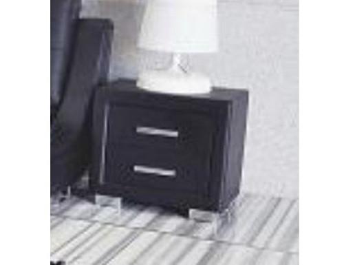 TOORAK 2 DRAWERS BEDSIDE TABLE - BLACK