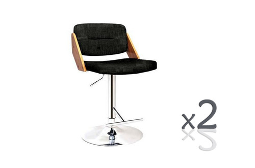 LYLA  GASLIFT  (SET OF 2)  BAR STOOL -SEAT: 930 - 1140(H) -   CHARCOAL
