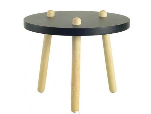 KIMI  HIGH COFFEE TABLE - BLACK  /  NATURAL