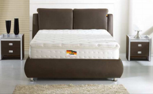 QUEEN APRONZI  LEATHERETTE  BED  (870) - ASSORTED COLOURS