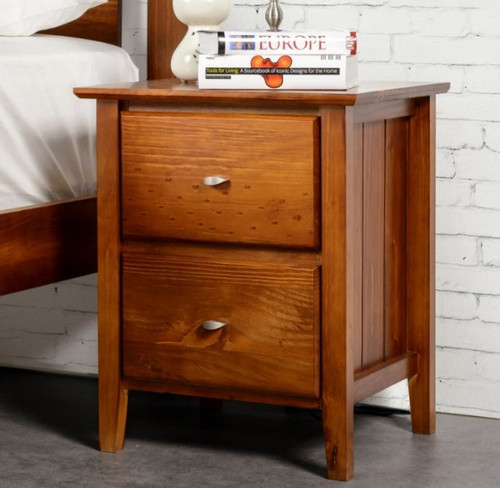 TANA 2 DRAWERS BEDSIDE TABLE - AVAILABLE IN WALNUT