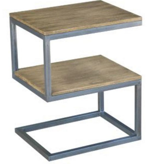 """BYRON (WOBN-012) """"S'' SHAPE SIDE TABLE - DISTRESSED NATURAL"""