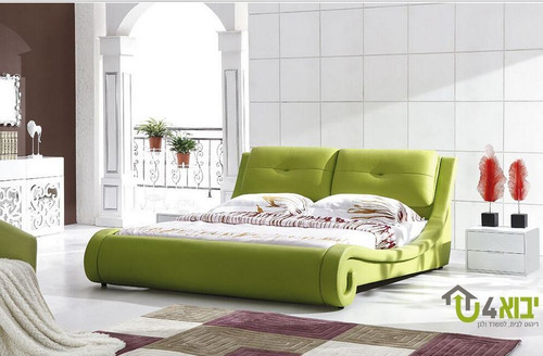 QUEEN  AWANA  LEATHERETTE BED (CD017) - ASSORTED COLORS