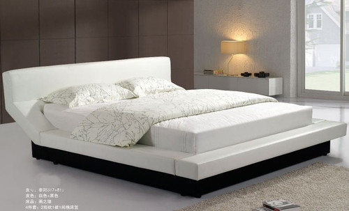 KING  REGINE  LEATHERETTE BED (CD057) - ASSORTED COLORS