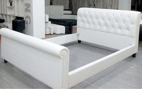 KING  VALENY  LEATHERETTE  BUTTONED BED (CD032) - ASSORTED COLORS AVAILABLE