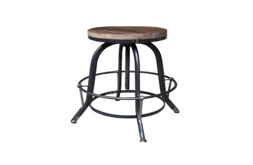 VEMINO INSTUSTRIAL ADJUSTABLE  STOOL WITHOUT BACK (WOST-019) - SEAT: 620 - 800(H)  - BLACK