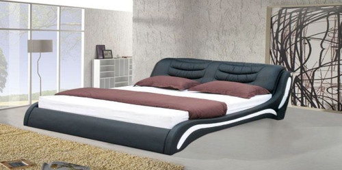 KING  KANTEY LEATHERETTE   BED  (CD040) - ASSORTED COLORS AVAILABLE