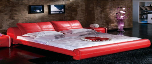 KING  SUMMY  LEATHERETTE   BED  (CD045) - WITH VELCRO CUSHIONS   ASSORTED COLORS AVAILABLE