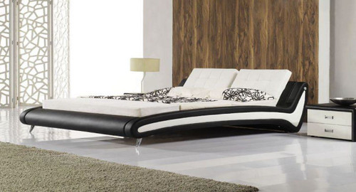 KING  MATTY LEATHERETTE   BED  (CD044) -   ASSORTED COLORS AVAILABLE