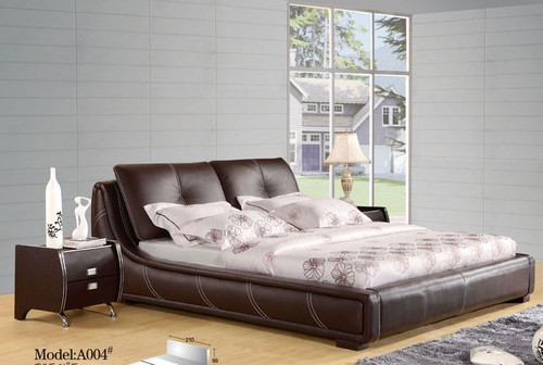 QUEEN CANDILAS LEATHERETTE  BED WITH VELCRO CUSHIONS  (CD048) - ASSORTED COLORS AVAILABLE