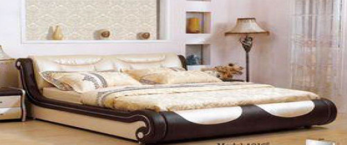 KING  JOSEPHUS LEATHERETTE   BED  (CD050) -  ASSORTED COLORS AVAILABLE